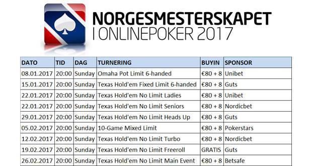 Program poker online