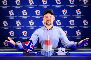 Jens Sevaldsen vant turboøvelsen under NM i poker. Foto: PokerNorge.no